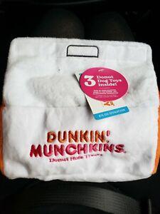 DUNKIN DONUTS DOG TOYS BARK BOX MUNCHKINS NWT PET DD PLUSH SQUEAK TOY