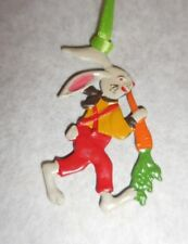 Kuhn Hand Painted Pewter From Germany Easter/Spring Motif Boy Bunny W/Carrot