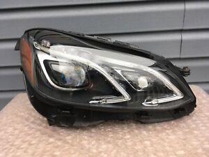 14 15 16 Mercedes Benz E-Class E400 E500 E550 E63 Sedan RH Headlight LED Mint!