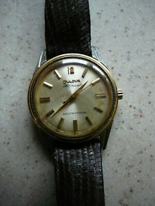 Men's Bulova Vintage Watch 30 Jewels, Selfwinding, Works, Waterproof, SS back