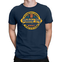 Mens 18th Birthday T-Shirt 18 YR OLD BIRTHDAY BOY Years of Awesomeness Gift Top