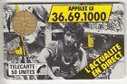 FRANCE TELECARTE / PHONECARD .. 50U F2 BU1 JOURNAL TELEPHONE S/N° UT/TBE C.200€
