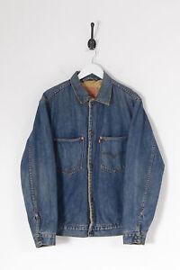 Vintage LEVI'S 71511 Lined Engineered Denim Jacket Dark Blue (M)