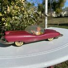 Vintage 1956 Futuristic Roadster Line Mar / Kuramochi Japan Friction Tin Car Toy