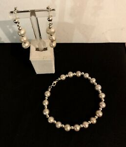 Sterling Silver Freshwater Pearl Set 925