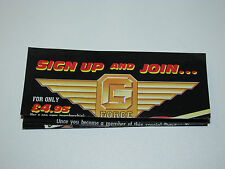 VINTAGE GI JOE 1991 LEAFLET BROCHURE CATALOG FOLDOUT 'G FORCE RECRUITMENT'