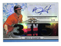 2014 Topps Triple Threads Bryce Harper 1/3 auto patch jersey card Nationals