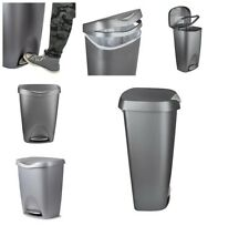 Umbra Brim Kitchen Trash Can with Stainless Steel Foot Pedal, Garbage Can & Lid