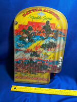 WWII VTG Wolverine Battle Action Bagatelle Marble Pinball Skill Game Litho Tin