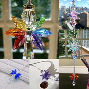 Crystal Suncatcher Window Hanging Feng Shui Healing Prism Rainbow Maker Deco.bu
