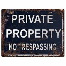 PP0870 PRIVATE PROPERTY Parking Plate Chic Sign Home Restaurant Cafe Decor Gift