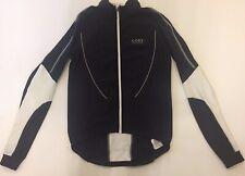 GORE L Bike Wear Cycling Jacket Black White Full Zipper