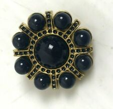 Vintage Button Black and Gold Decorative 1 Inch Heavy Metal