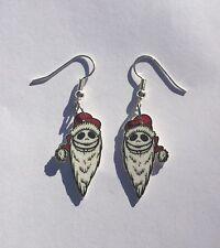 Nightmare Before Christmas Earrings Jack Santa Hat Charms