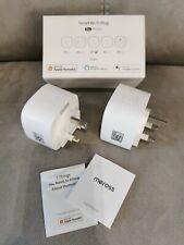 Wi-Fi 2 pack Smart Plugs Meross 13A Compatible with HomeKit Alexa Google MSS210