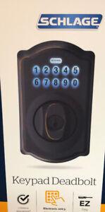 Schlage Keypad Deadbolt Aged Bronze Door Lock. Packaged with care