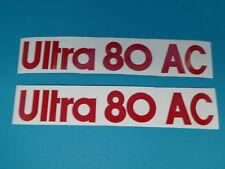 Hercules Ultra 80 AC Seitendeckel Design Sticker Schriftzug Dekor Aufkleber Rot
