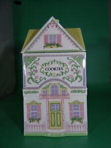 The Lenox Village Cookie Cottage Cookie Jar  Fine Porcelain Vintage