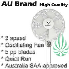 Seahawk 400mm Wall Mount Fan Oscillating 5 Blades Quiet Operation SAA Approved
