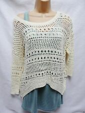 Women's Cotton Blend Scoop Neck 3/4 Sleeve Jumpers & Cardigans