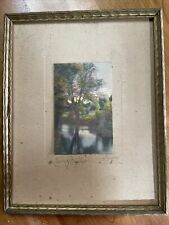 """Vintage """"The Afterglow"""", Charles Sawyer Handcolored Print 3"""" x 2"""""""