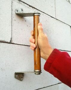 Vintage Wooden Door Handle Wood Metal Big Pull