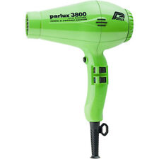 Parlux 3800 Eco Friendly Ionic & Ceramic Green hair dryer, free ship Worldwide