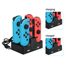 Nintendo Switch Joy-Con Charging Dock 4 Controllers Desktop Charger USB Cable