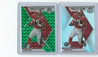 Jerry Rice 2020 Panini Mosaic Silver & Green Prizm Hall of Fame  2 card lot