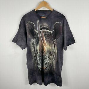 The Mountain T-Shirt XL Multicoloured Rhino Print Short Sleeve Crew Neck 6.11