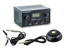 3in1 Tattoo Set Digital Netzteil Power Supply Fußpedal mit Clipcord Kabel N12-10