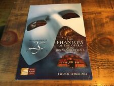More details for the phantom of the opera 25th anniversary theatre programme royal albert hall