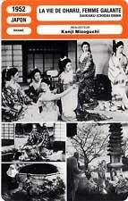 FICHE CINEMA : LA VIE DE OHARU FEMME GALANTE Tanaka,Mizoguchi 1952 Life Of Oharu