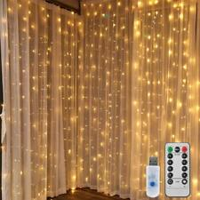 LEDGLE 300 LED USB Window Curtain String Light Wedding Party Home Garden Bedroom