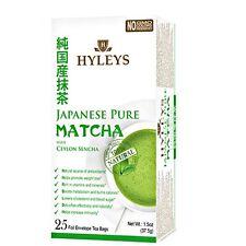 Hyleys Japanese Pure Matcha Tea with Ceylon Sencha, 25 teabags - Please Choose!