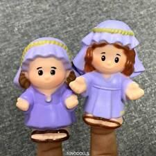 2X Fisher Price Little People CHRISTMAS Nativity SHEPHERD Joseph Mary TOYS SDUK