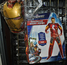 Iron Man Muscle Adult Marvel Halloween  Costume #828 / Avengers  Tony Stark