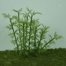 Lot 100Pcs Modèle Bamboo Arbres En Plastique 4 échelles - vert