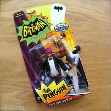 BATMAN Classic TV Series THE PENGUIN Action Figure with Collector Card by Mattel