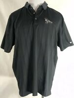Tiger Woods Collection Nike Dri-Fit Mens XL Polo Golf Shirt Black