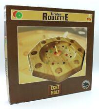 Tiroler Roulette, Holzbrett, Kreisel, 13 Holzkugeln, komplett - neuwertig