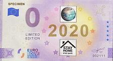 BILLET 0  EURO SPECIMEN   COULEUR  2021  NUMERO DIVERS
