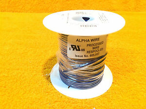 ***NEW*** 100' SPOOL ALPHA WIRE AWM 3057  BLUE #16 AWG HOOK UP WIRE