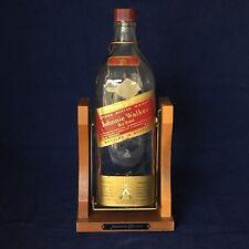 JOHNNIE WALKER RED Label Vintage One Gallon Bottle Cradle Stand Vintage Display