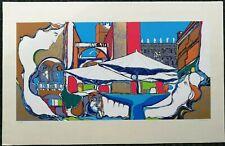 BORRELLO PIPPO GIUSEPPE serigrafia + cornice Venezia quadro moderno grecoarte