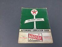 1956 Edition Texaco Chek-Chart Marfak Automotive & European Lubrication Guide