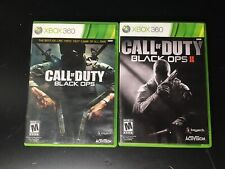 XBOX 360 - Call of Duty - Black Ops & Black Ops 2 - 2 Disks W/ Case & Booklet