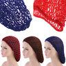 Women Mesh Hair Net Crochet Cap Solid Color Sleeping Night Cover Turban Headwear