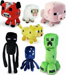 NEW Minecraft Soft Plush Toys Stuffed Animals Plush Kids Birthday Gifts UK K1