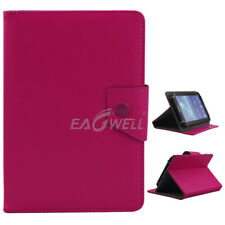 """For Universal 7"""" 8.0"""" 10"""" inch Tablet Kids Shockproof PU Leather Case Cover-Rose"""
